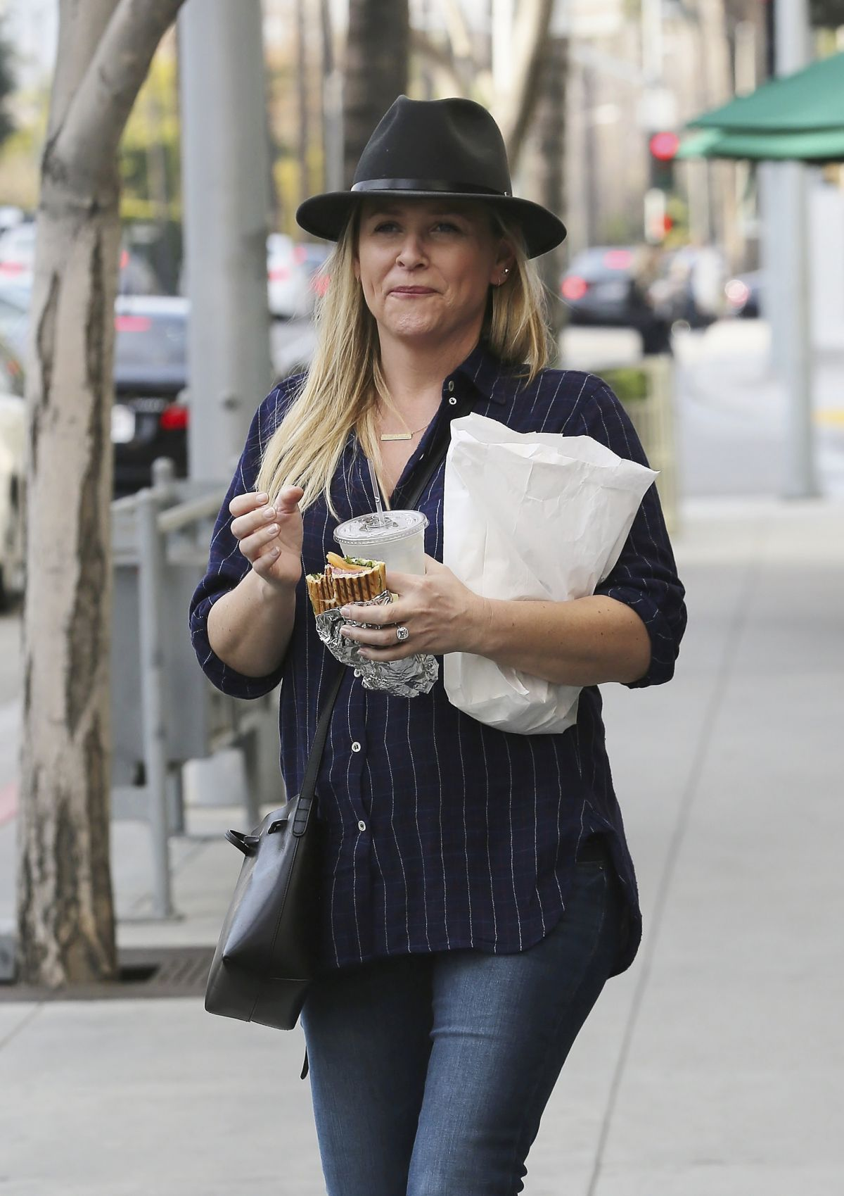 JESSICA CAPSHAW Out and About in Beverly Hills 01/15/2016