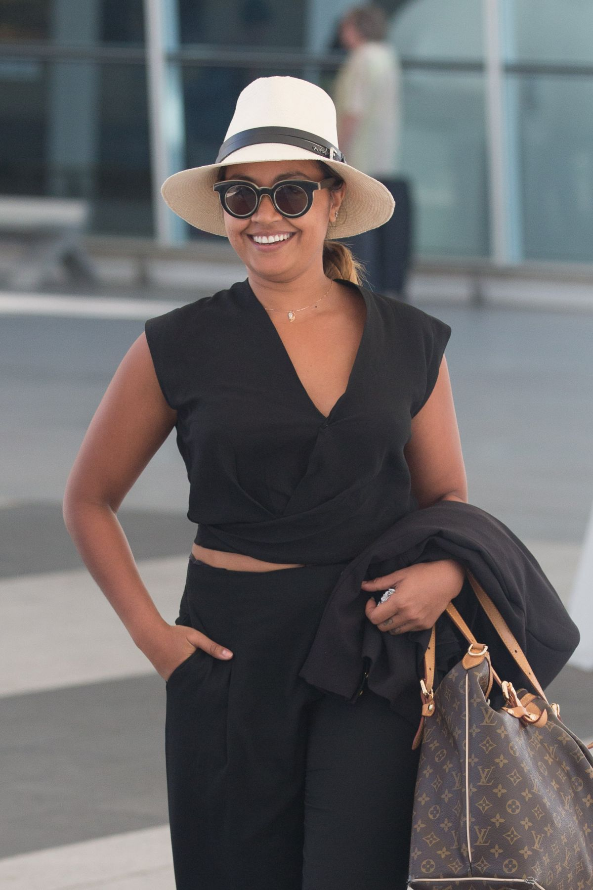 JESSICA MAUBOY at Airport in Adelaide 01/15/2016