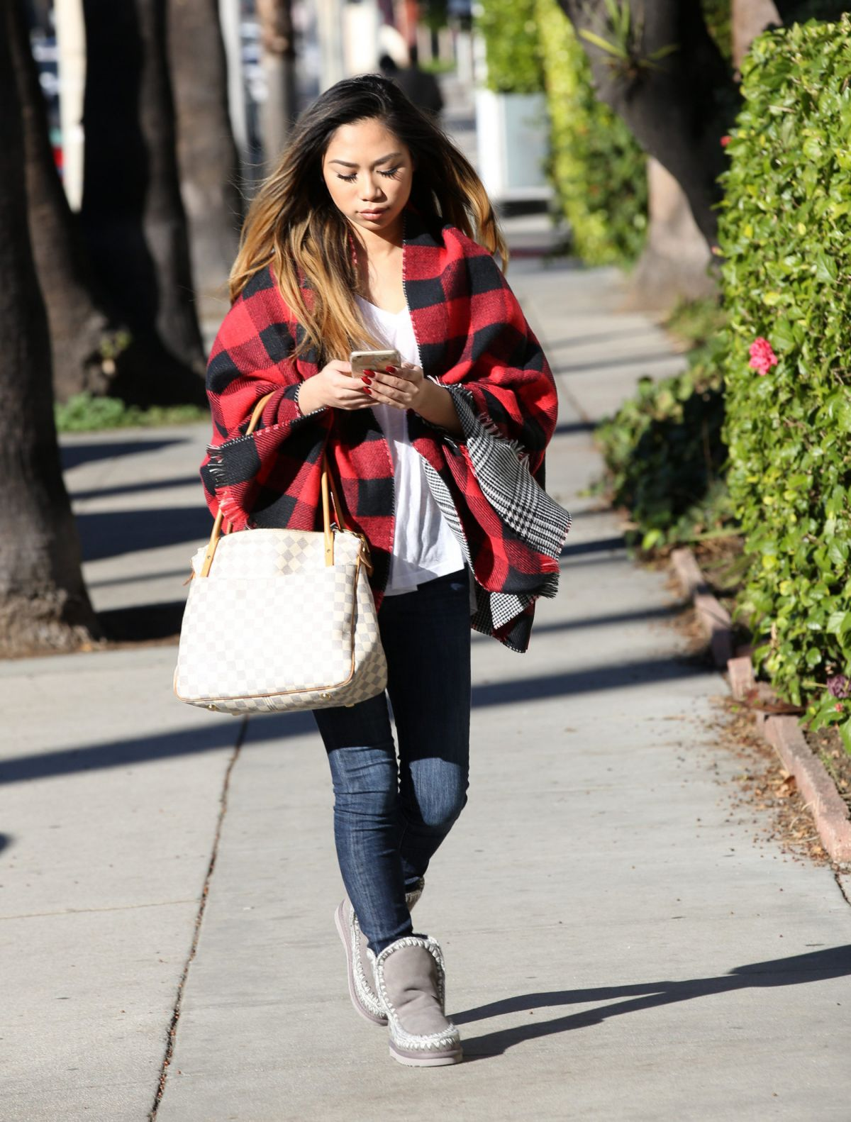 JESSICA SANCHEZ Out and About in Beverly Hills 01/14/2016
