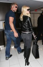 JESSICA SIMPSON at LAX Airport in Los Angeles 01/11/2016