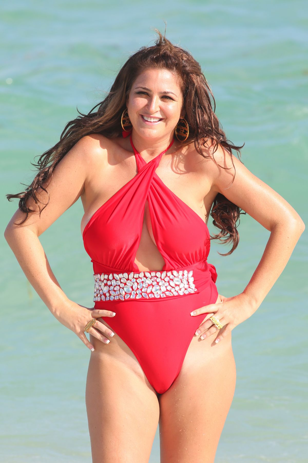 JOSIE GOLDBERG in Swimsuit at a Beach in Miami 12/31/2015