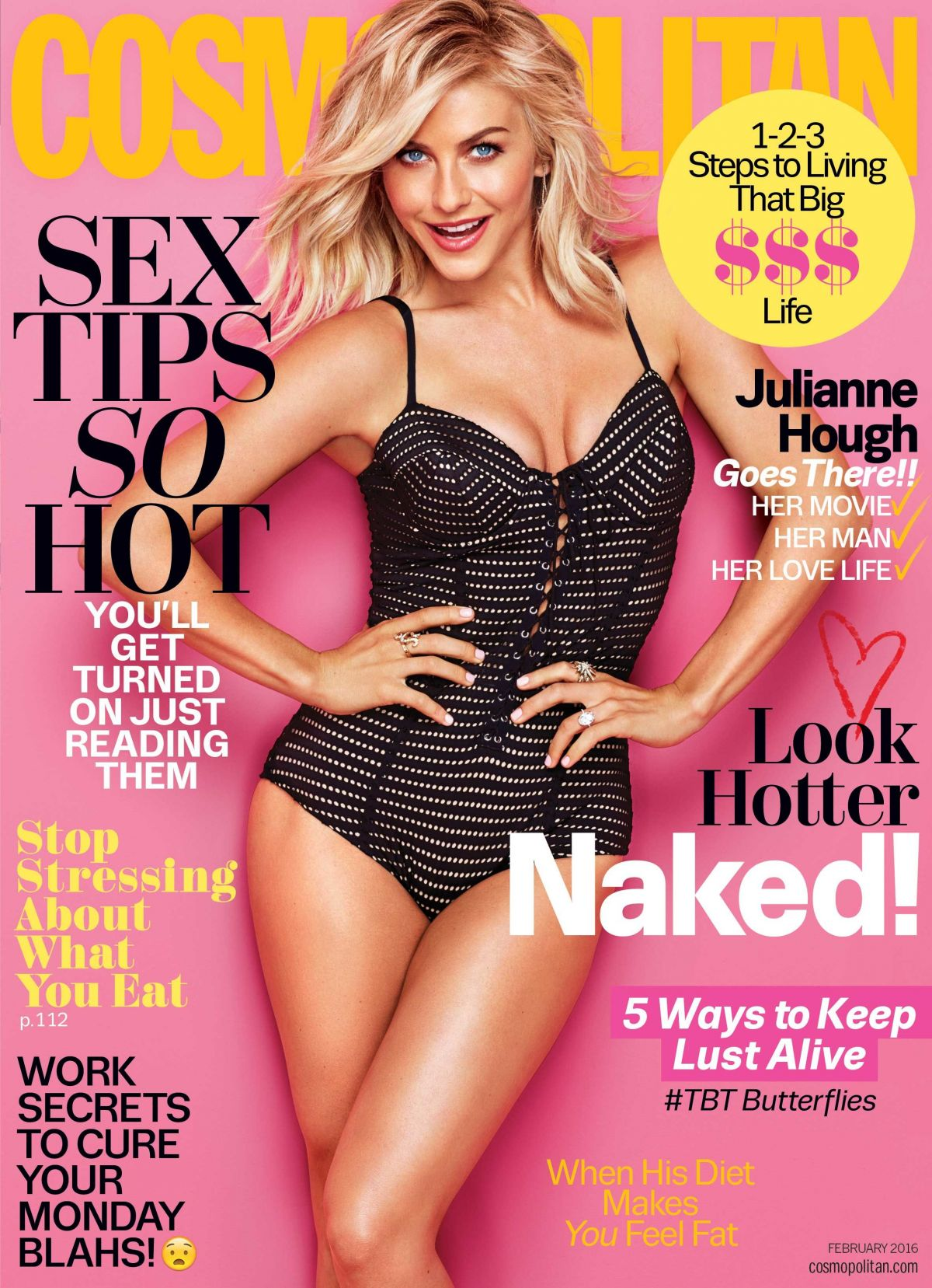 JULIANNE HOUGH in Cosmopolitan Magazine, February 2016 Issue
