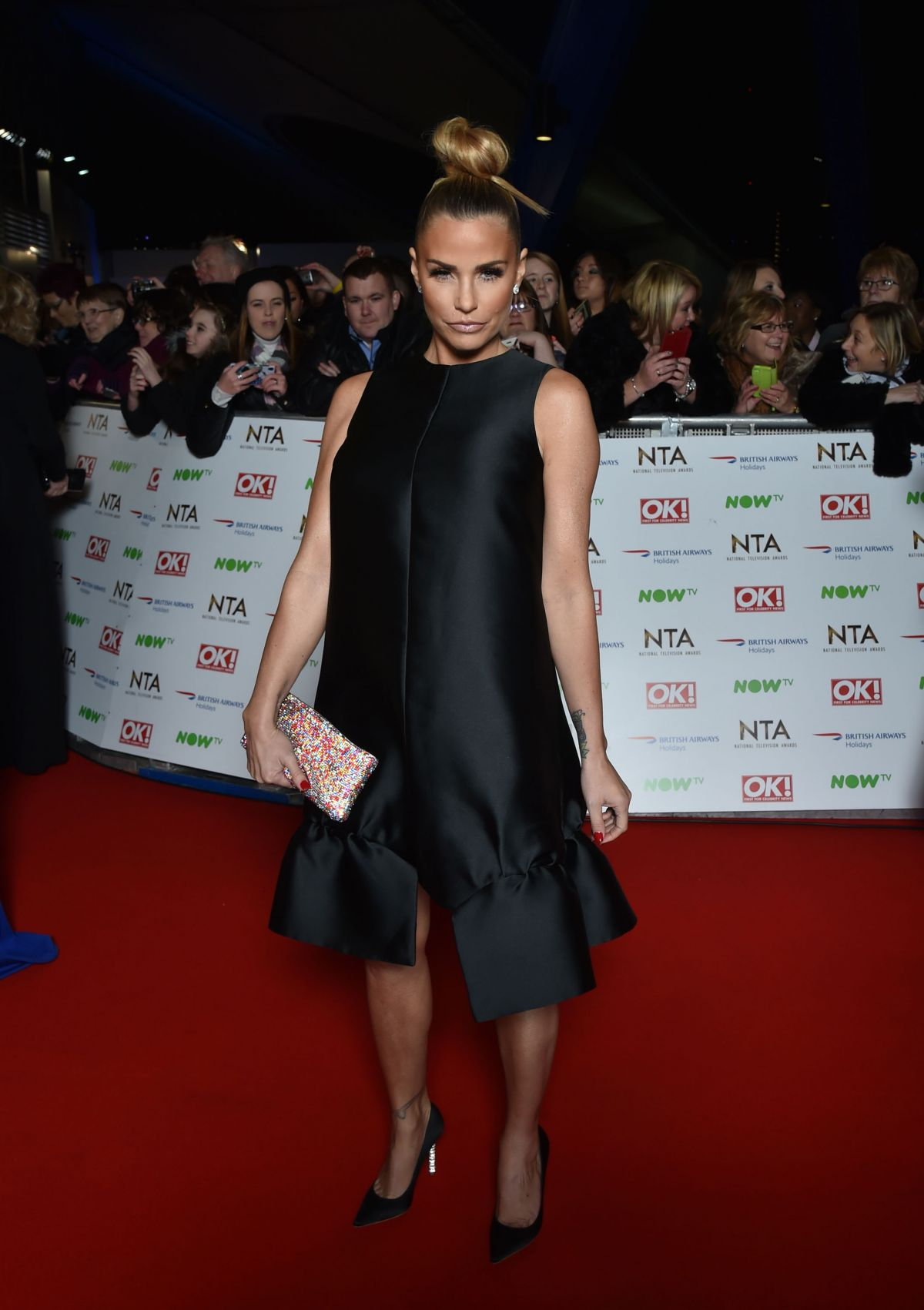 KATIE PRICE at 2016 National Television Awards in London 01/20/2016