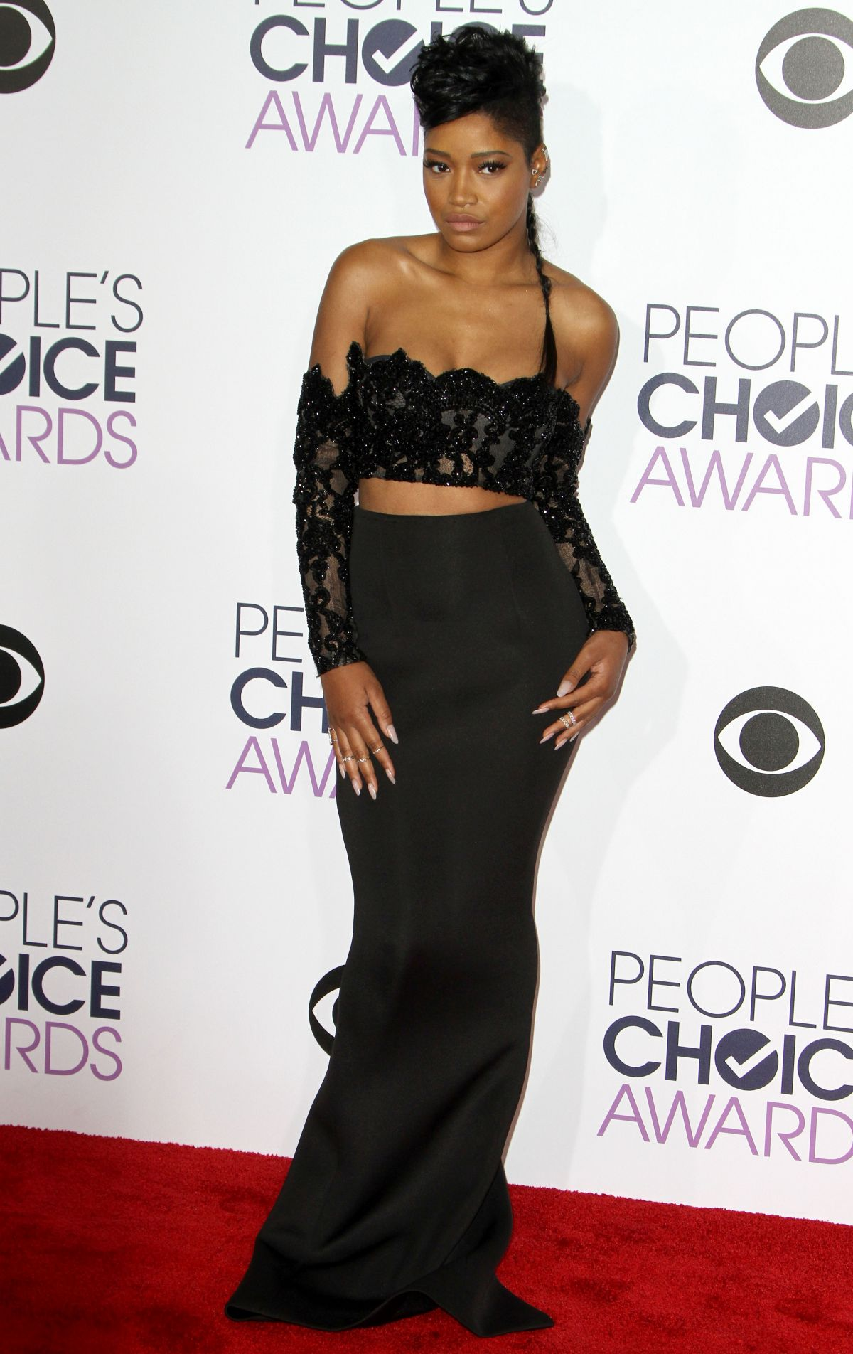KEKE PALMER at 2016 People's Choice Awards in Los Angeles ...