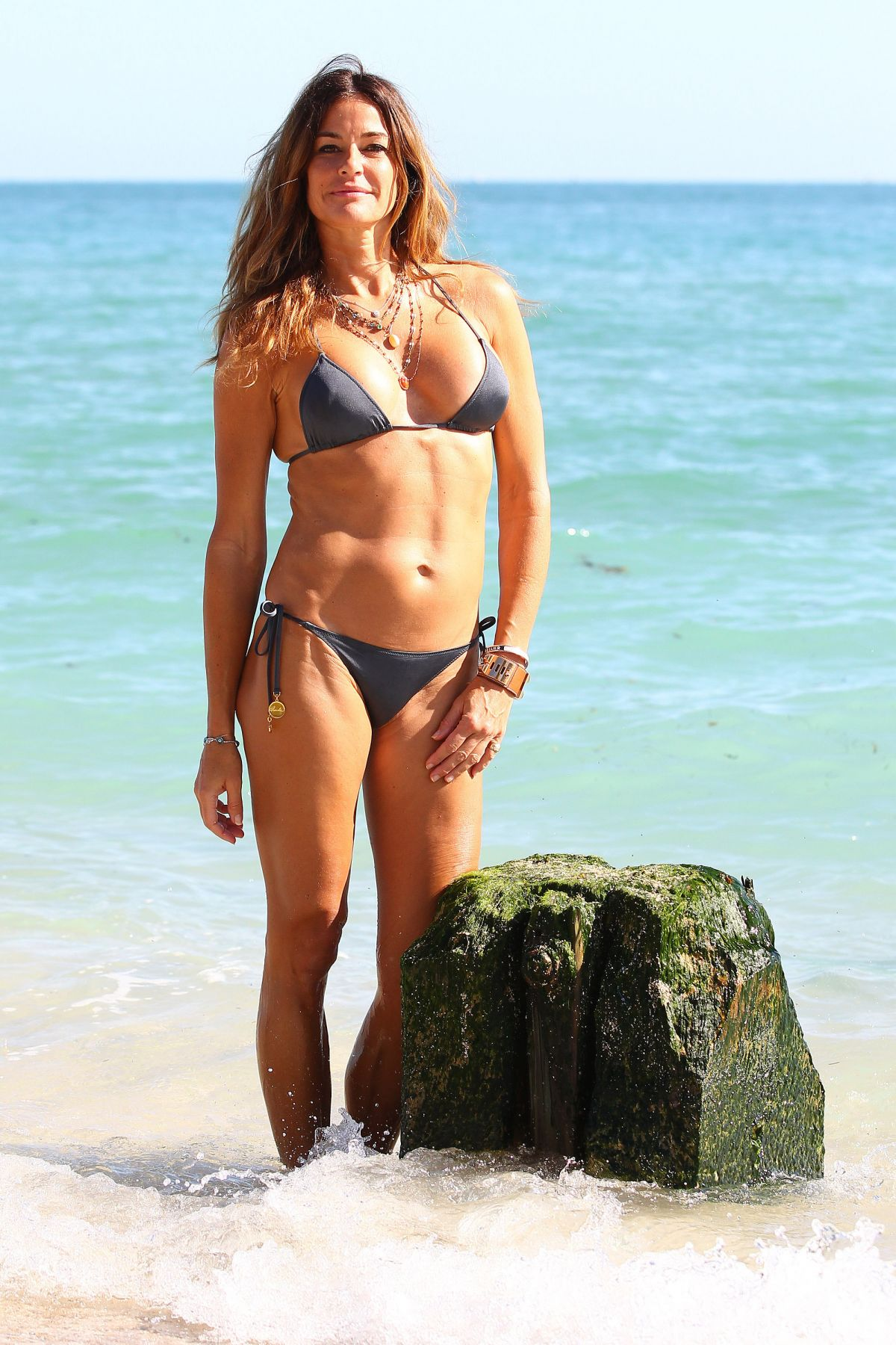 Kelly Bensimon in White Bikini in Miami Pic 1 of 35