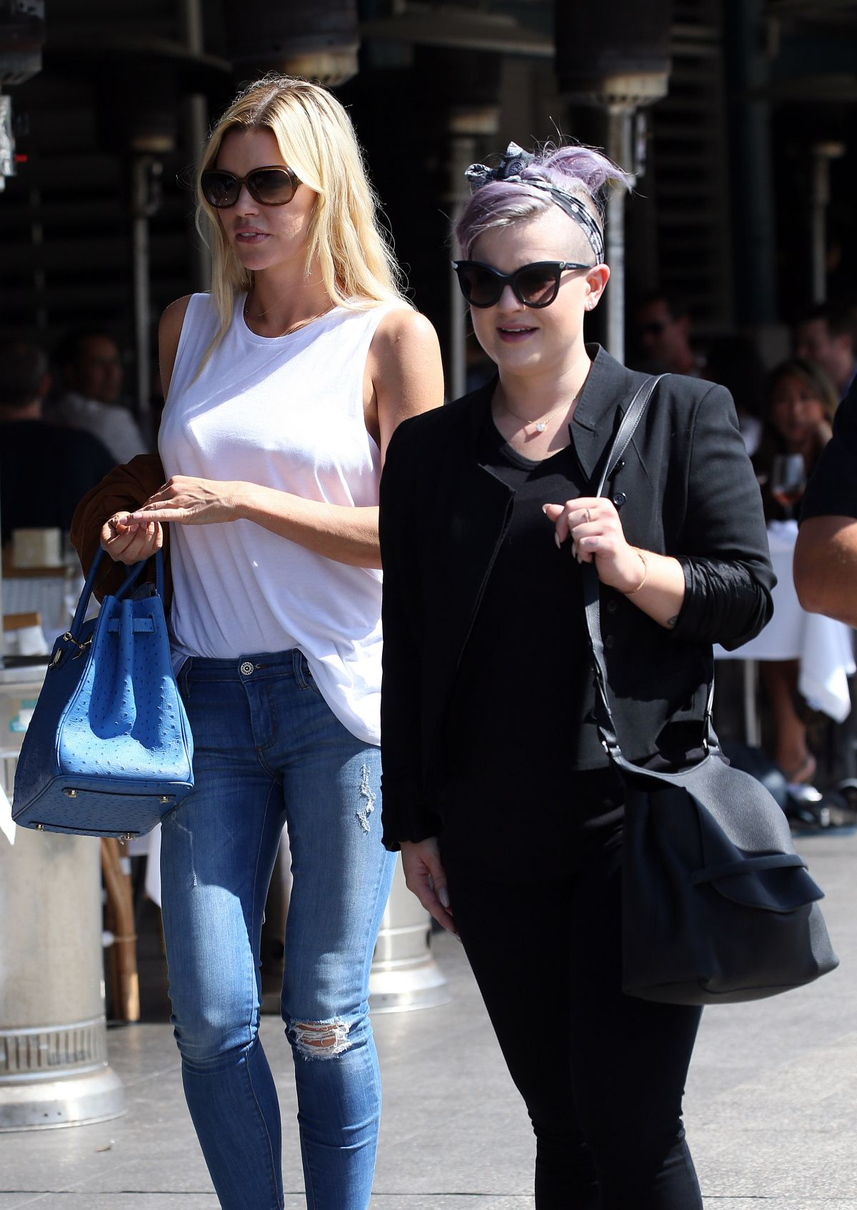 KELLY OSBOURNE and SOPHIE MONK Out for Drinks at Woolloomooloo Wharf in Sydney 01/30/2016