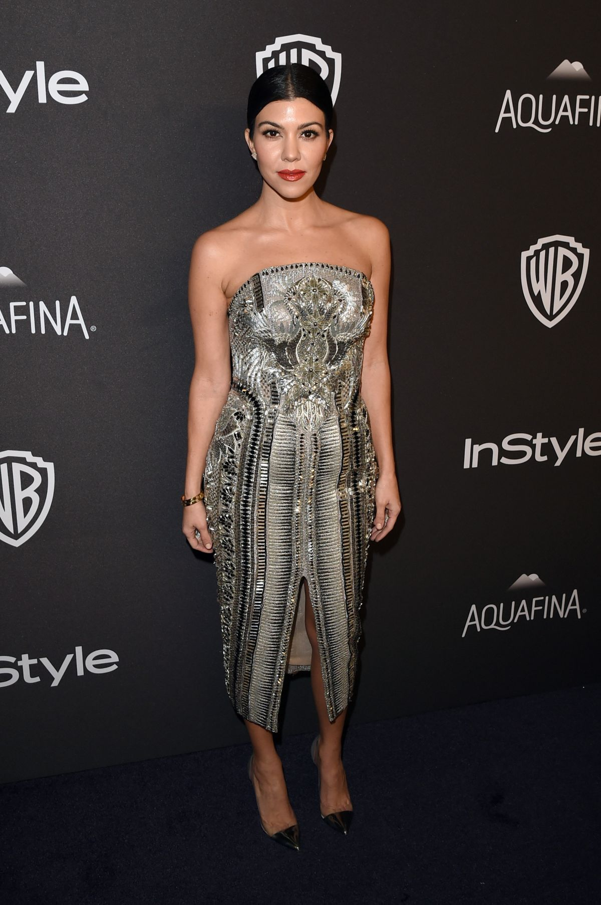 KOURTNEY KARDASHIAN at Instyle and Warner Bros. 2016 Golden Globe Awards Post-party in Beverly Hills 01/10/2016