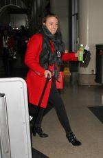 LENA DUNHAM at LAX Airport in Los Angeles 01/07/2016