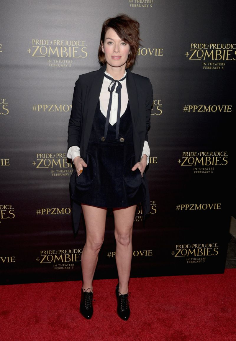LENA HEADEY at Pride and Prejudice and Zombies Screening in Los Angeles 01/21/2016