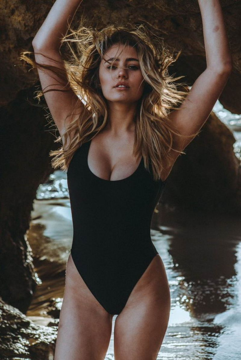 LIA MARIE JOHNSON in Swimsuit on the Set of a Photoshoot
