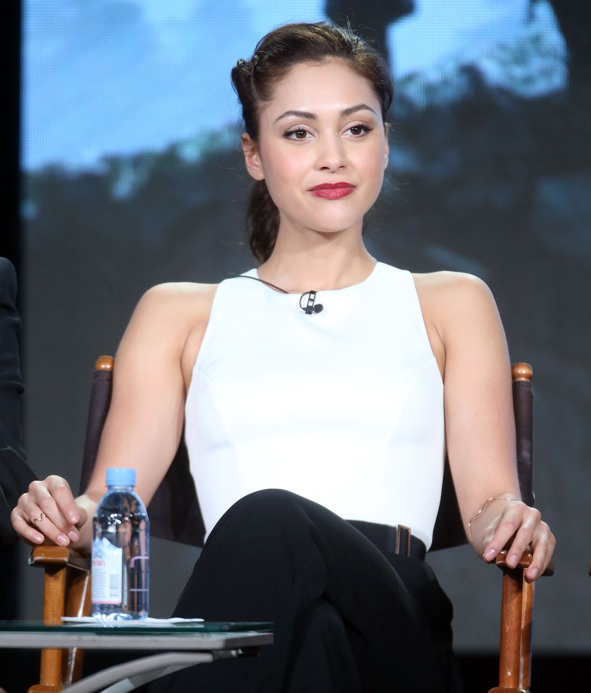 LINDSEY MORGAN at The 100 Panel at 2016 Winter TCA Tour in Pasadena 10/10/2016
