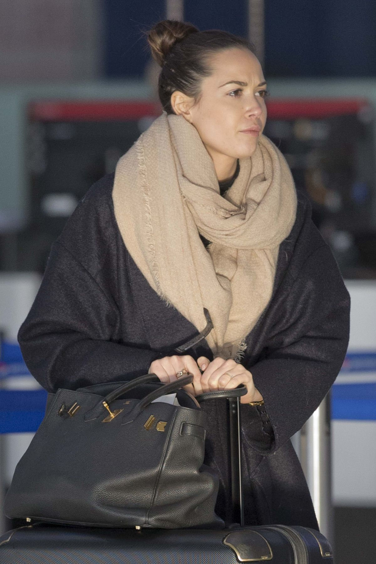 MANDY CAPRISTO at Heathrow Airport in London 01/15/2016