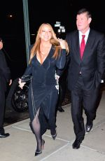 MARIAH CAREY and James Packer Out in New York 01/21/2016