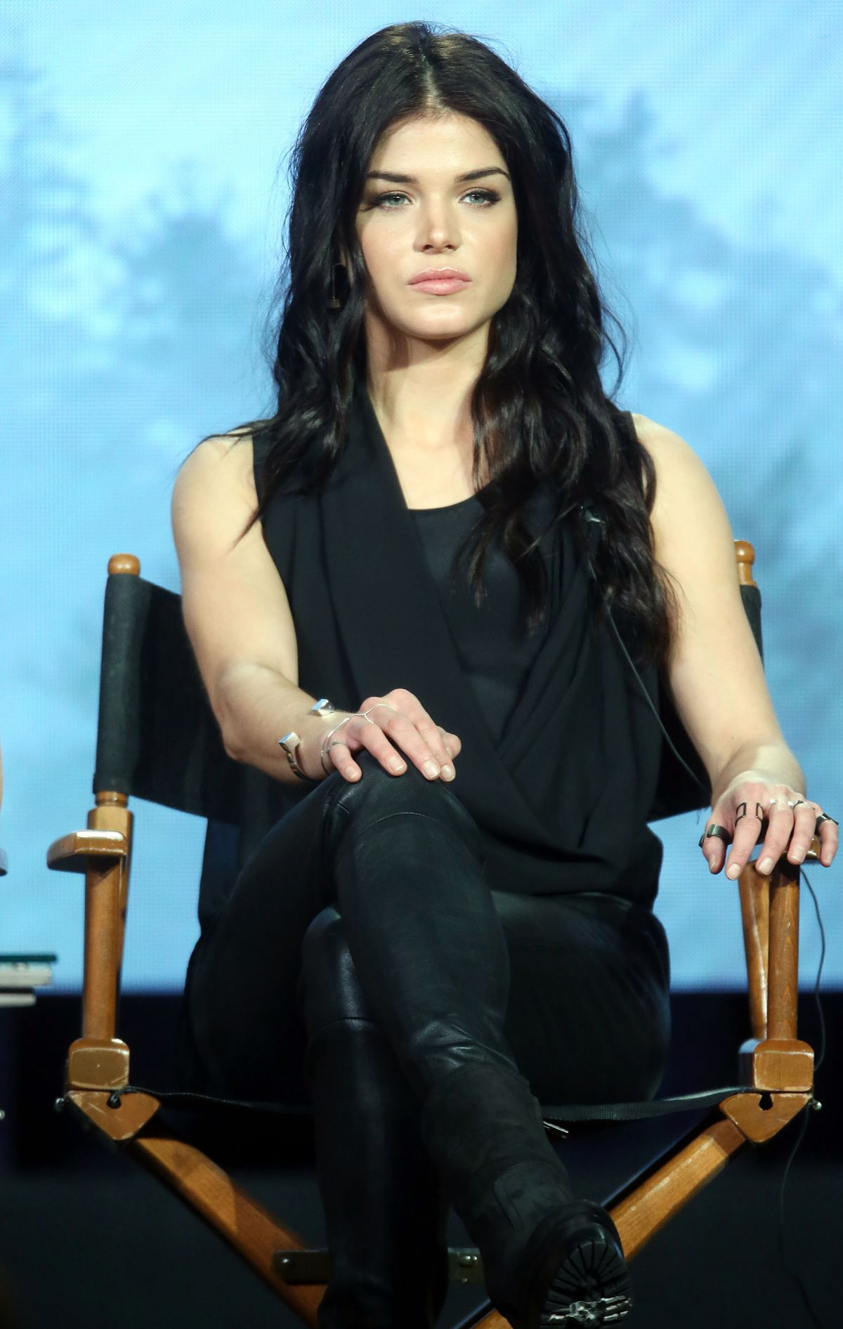 MARIE AVGEROPOULOS at The 100 Panel at 2016 Winter TCA Tour in Pasadena 10/10/2016