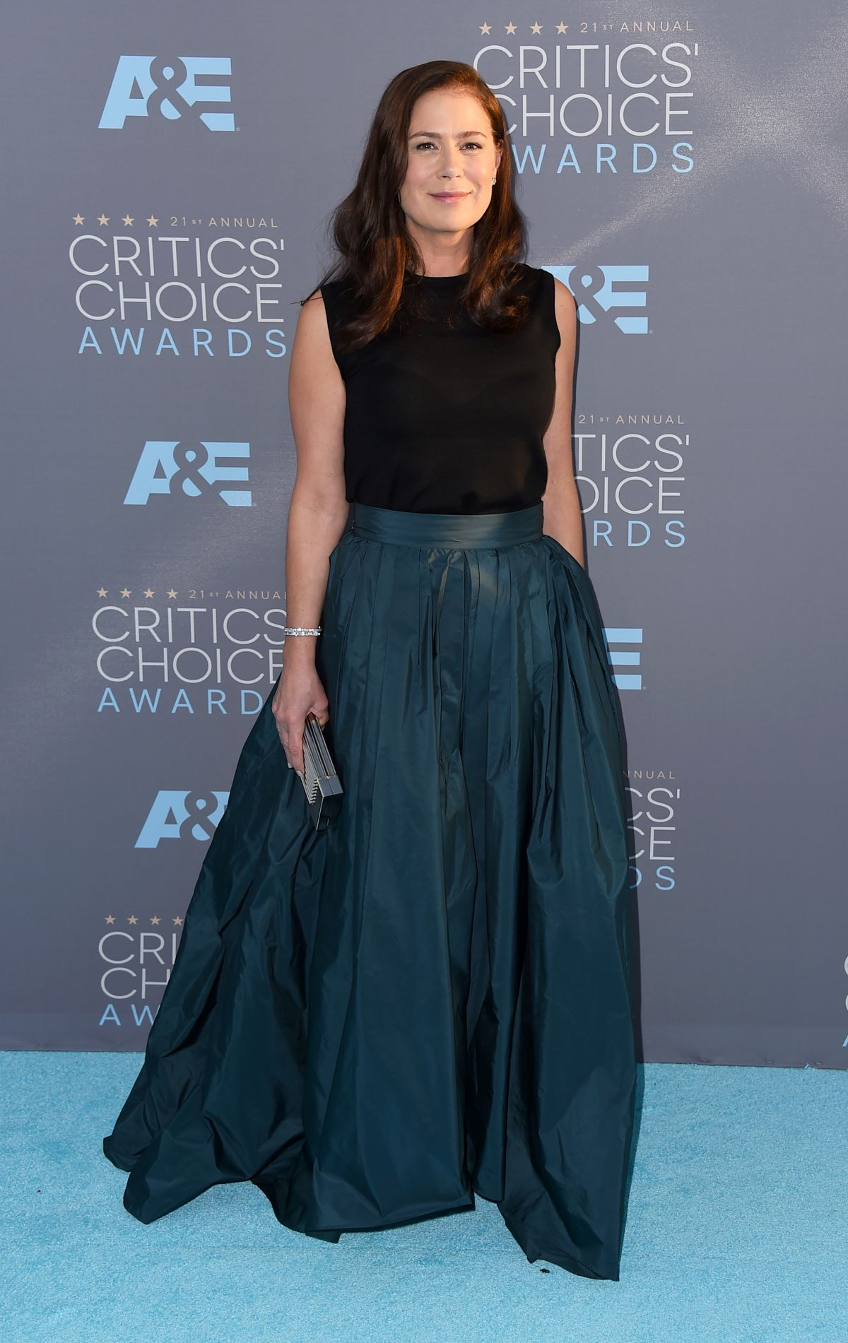 MAURA TIERNEY at Critics's Choice Awards 2016 in Santa Monica 01/17/2016