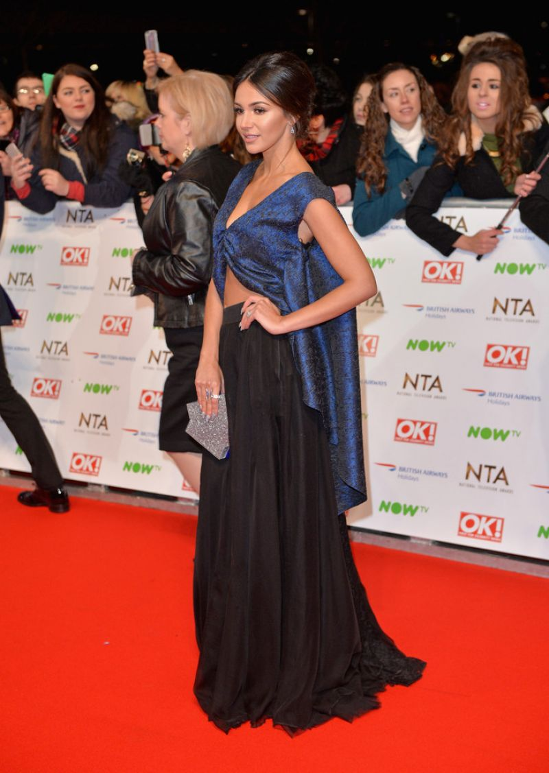 MICHELLE KEEGAN at 2016 National Television Awards in London 01/20/2016