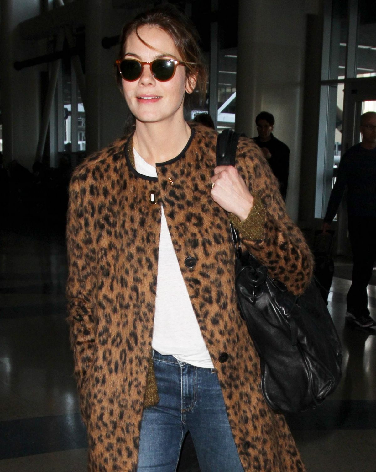 MICHELLE MONAGHAN at LAX Airport in Los Angeles 01/11/2016