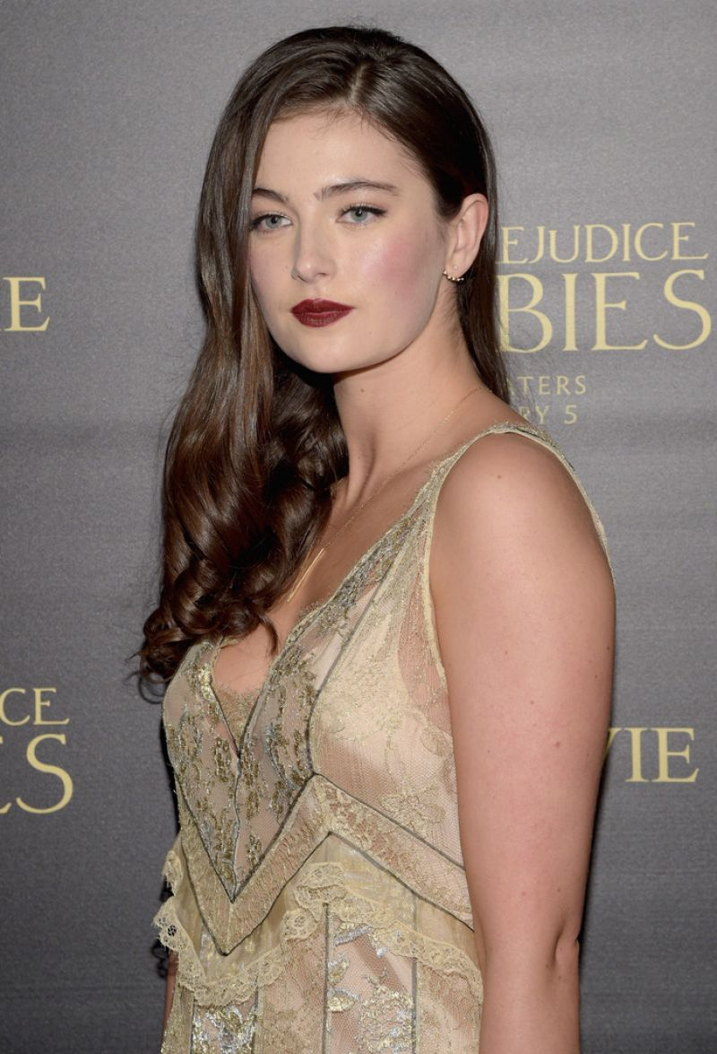 MILLIE BRADY at Pride and Prejudice and Zombies Screening in Los Angeles 01/21/2016