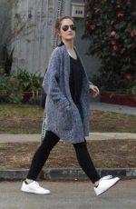 MINKA KELLY Leaves Marie Nails in Los Angeles 01/21/2016