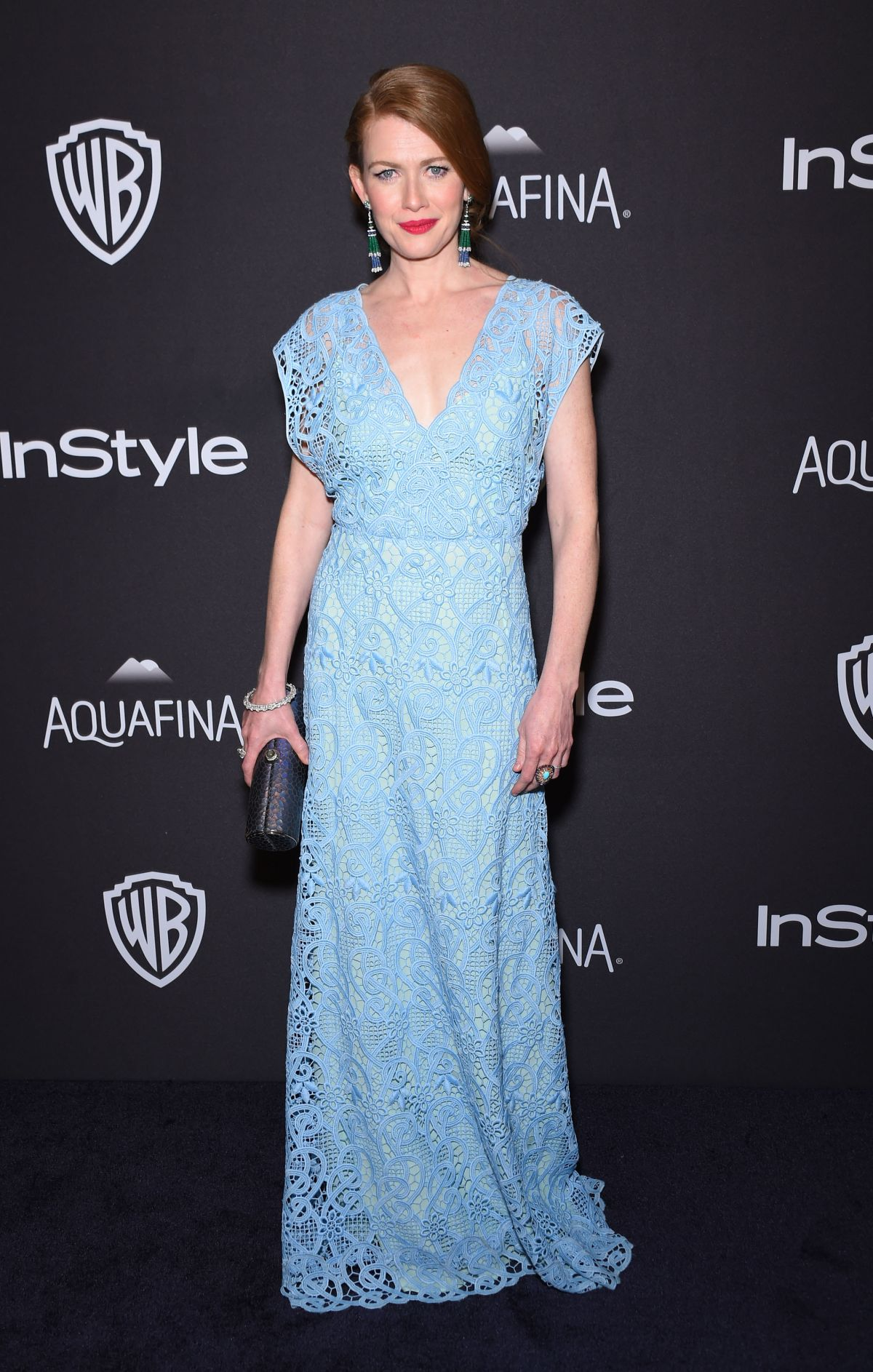 MIREILLE ENOS at Instyle and Warner Bros. 2016 Golden Globe Awards Post-party in Beverly Hills 01/10/2016