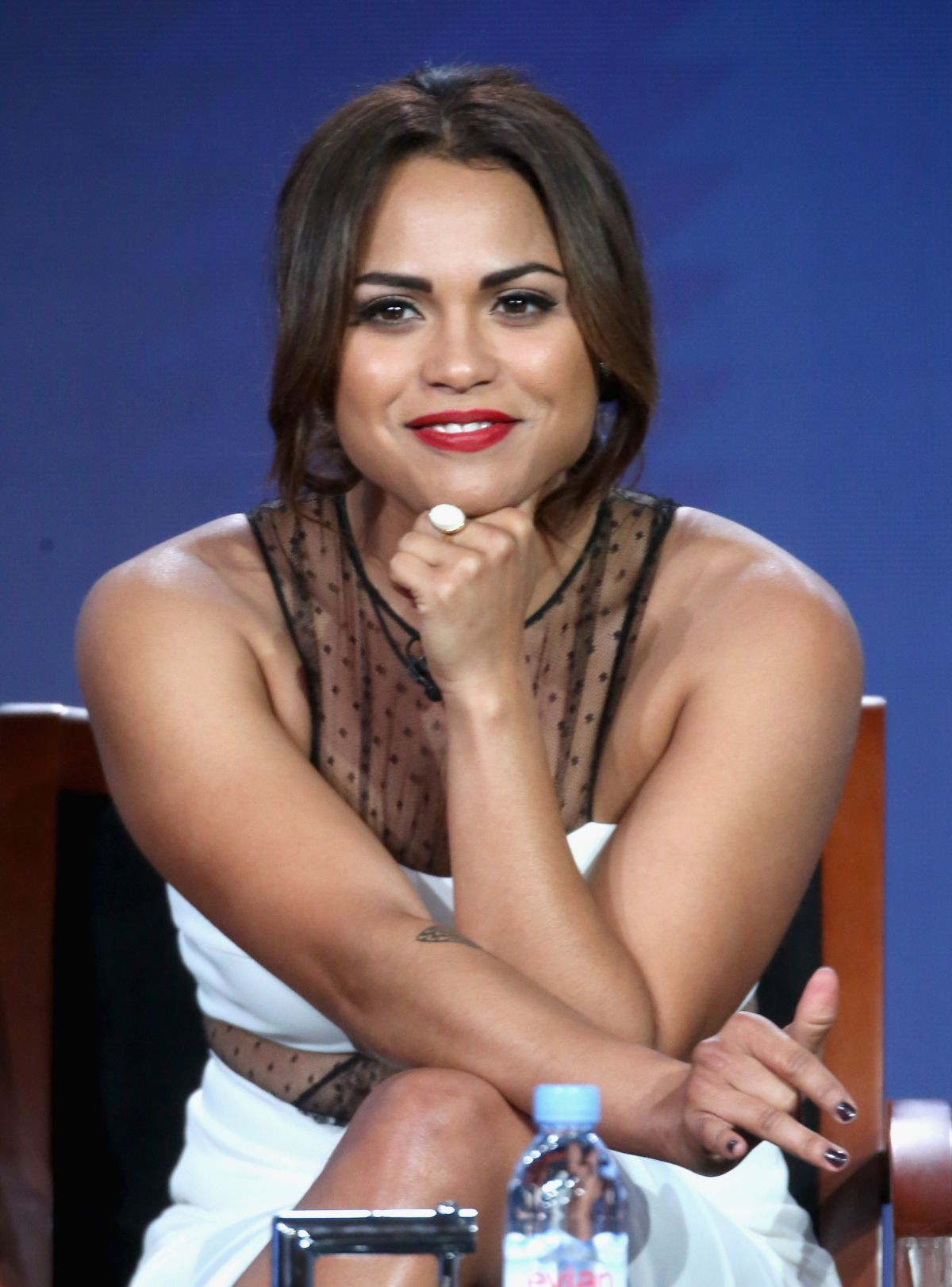 MONICA RAYMUND at Chicago FIre Panel at 2016 Winter TCA Tour in Pasadena 01/13/2016