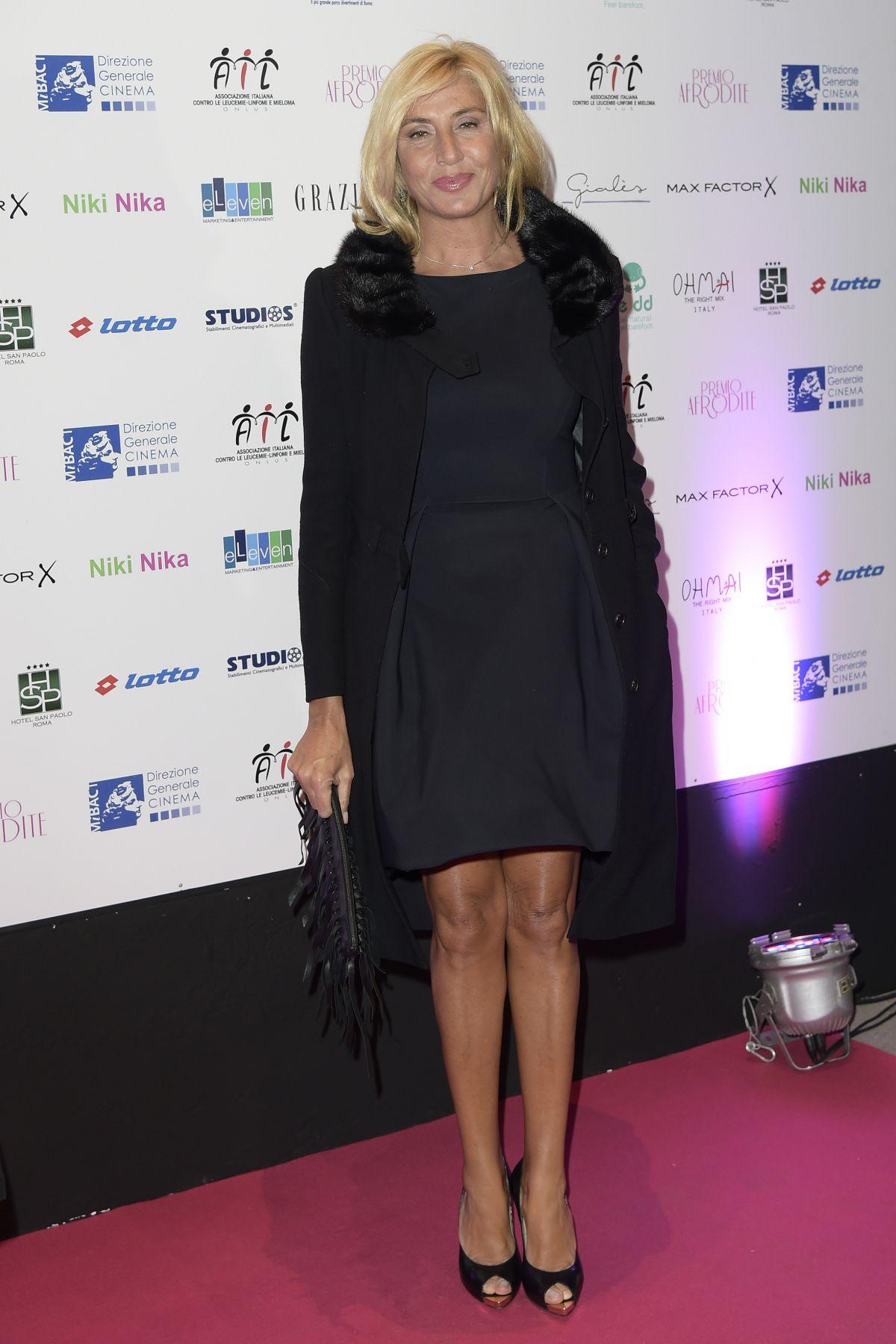 MYRTA MERLINO at Premio Afrodite in Rome 01/13/2016
