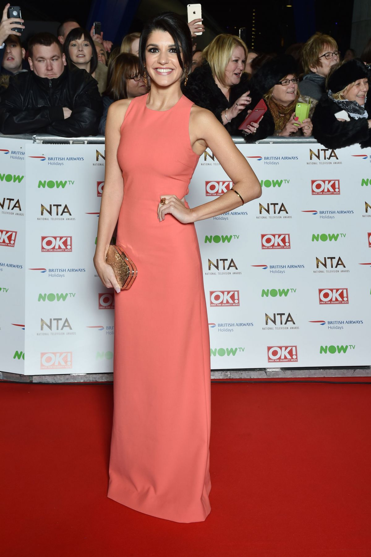 NATALIE ANDERSON at 2016 National Television Awards in London 01/20/2016