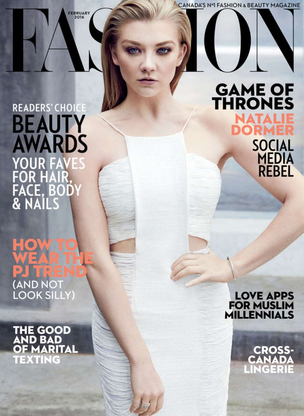 NATALIE DORMER In Fashion Magazine, February 2016 Issue