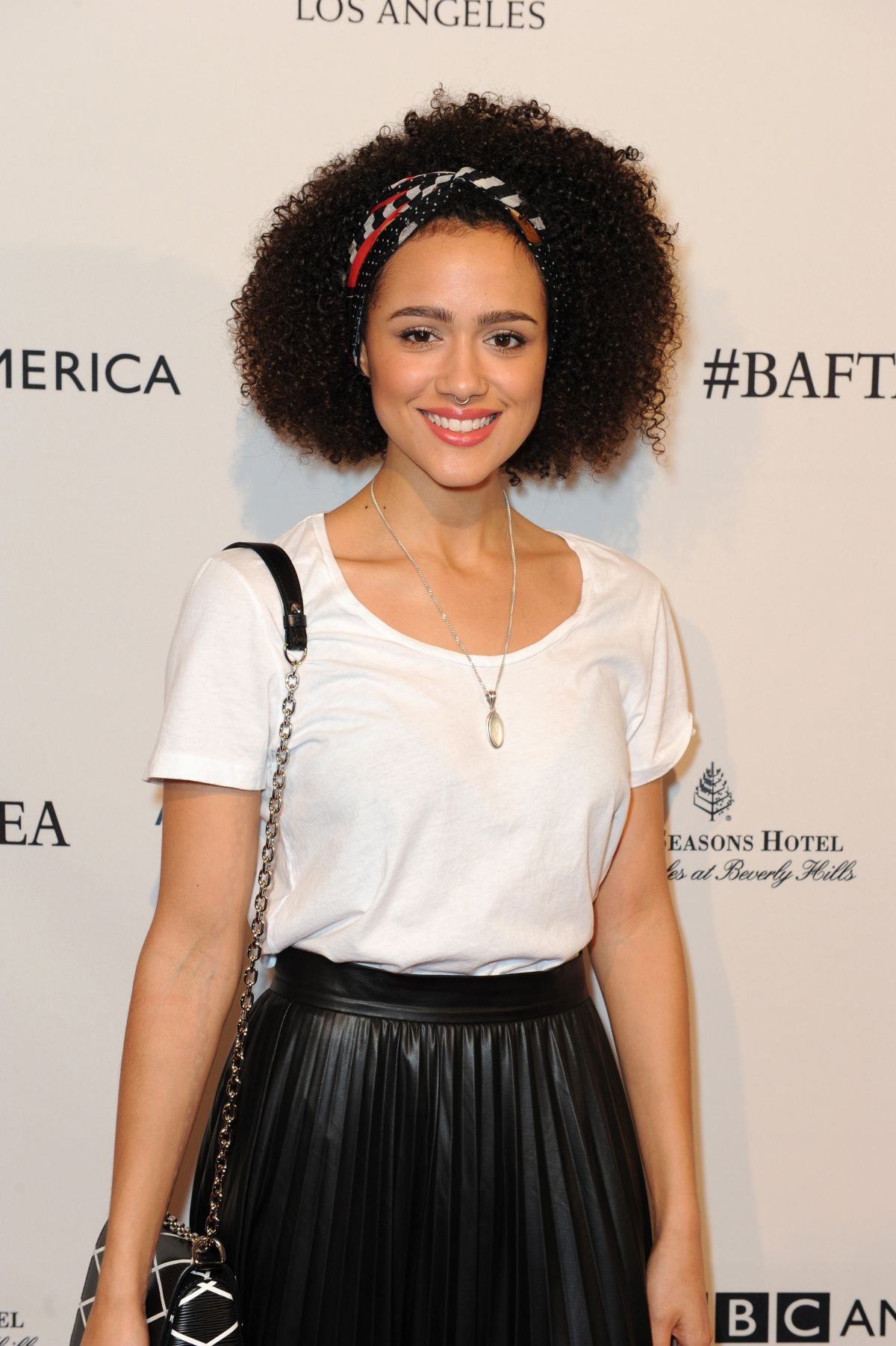 NATHALIE EMMANUEL at BAFTA Los Angeles Awards Season Tea in Los Angeles 01/09/2016