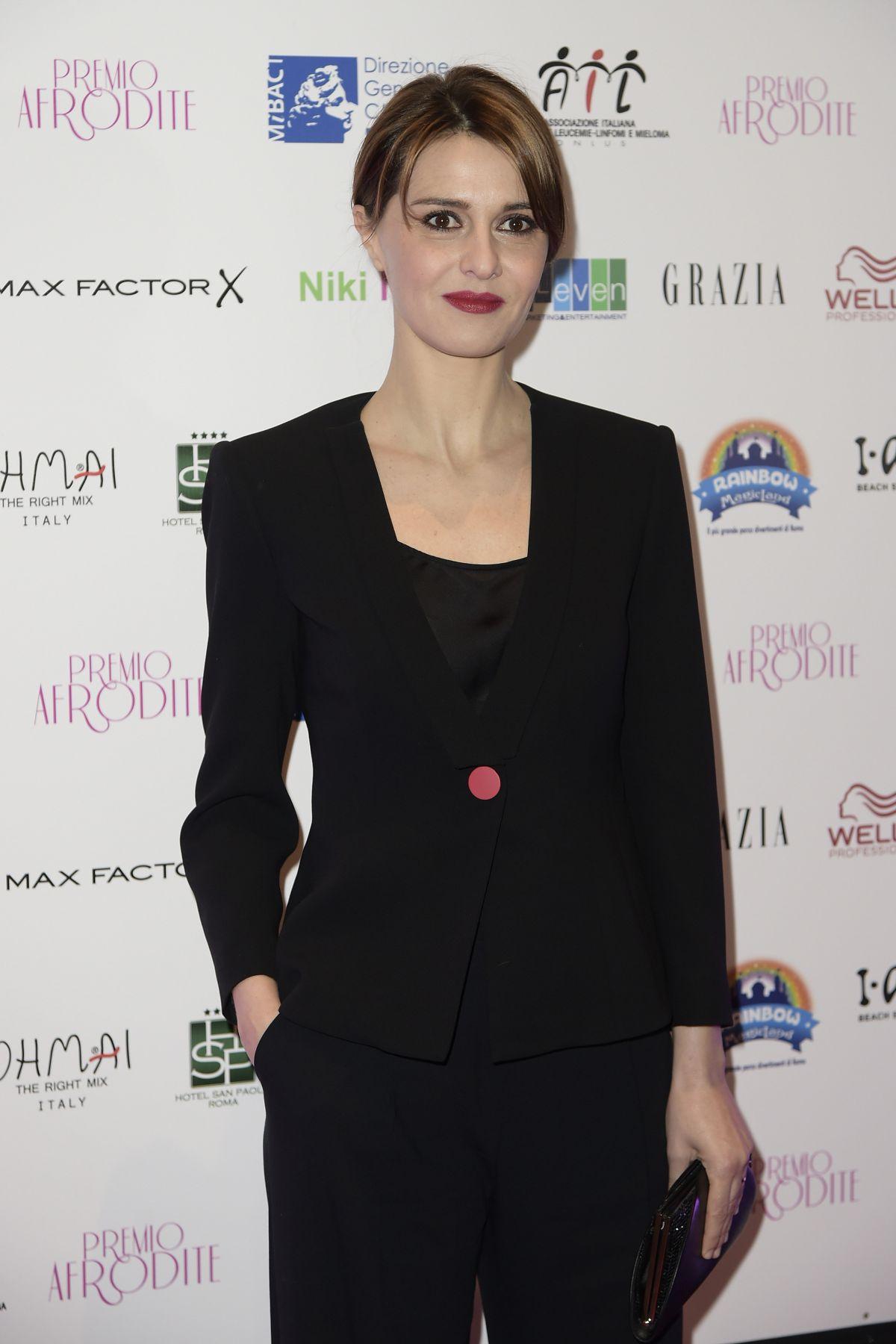 PAOLA CORTELLESI at Premio Afrodite in Rome 01/13/2016