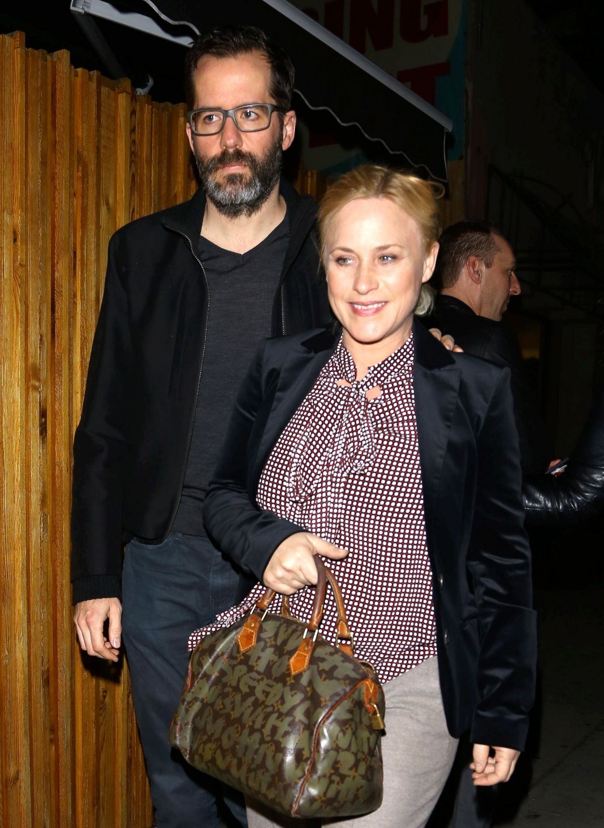 PATRICIA ARQUETTE at Nice Guy Club in West Hollywood 01/23/2016