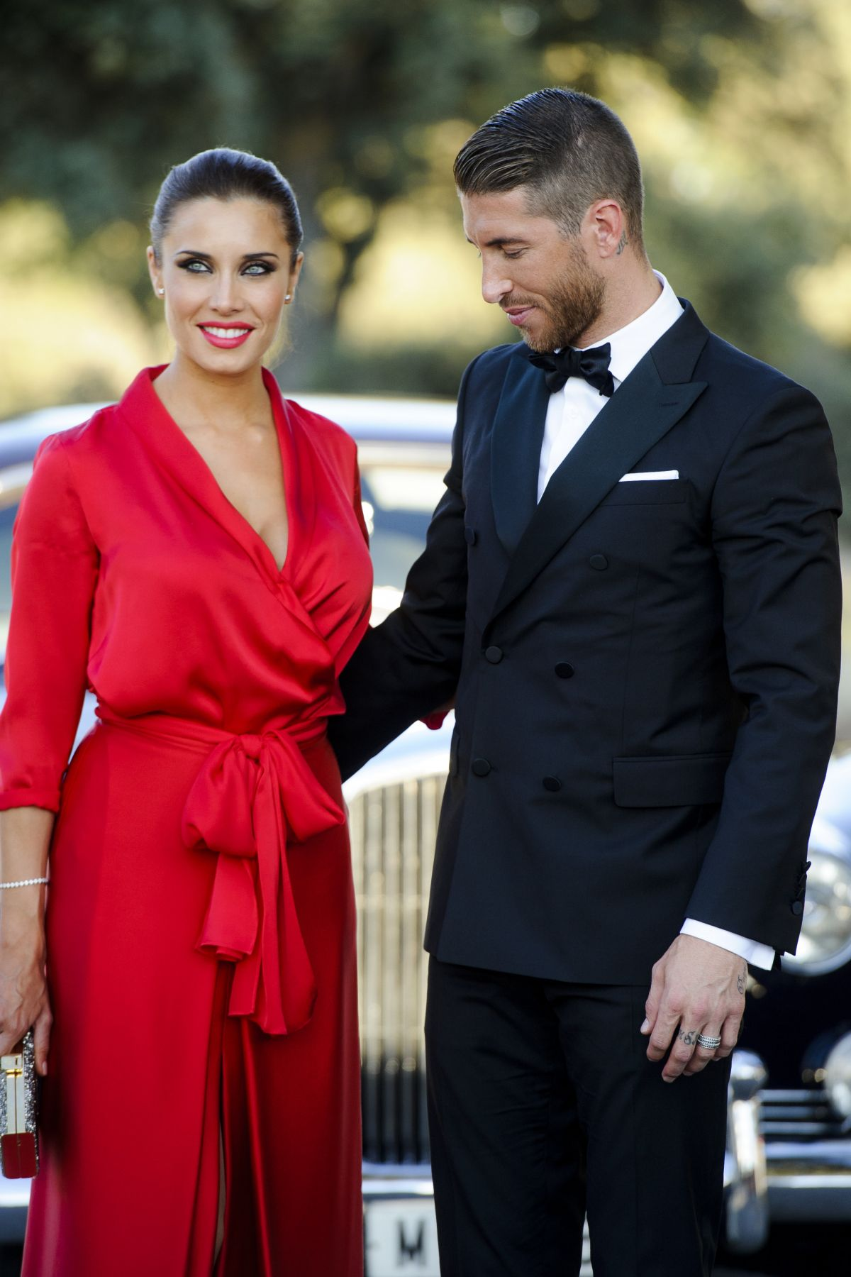 PILAR RUBIO and Sergio Ramos at a Friends Wedding