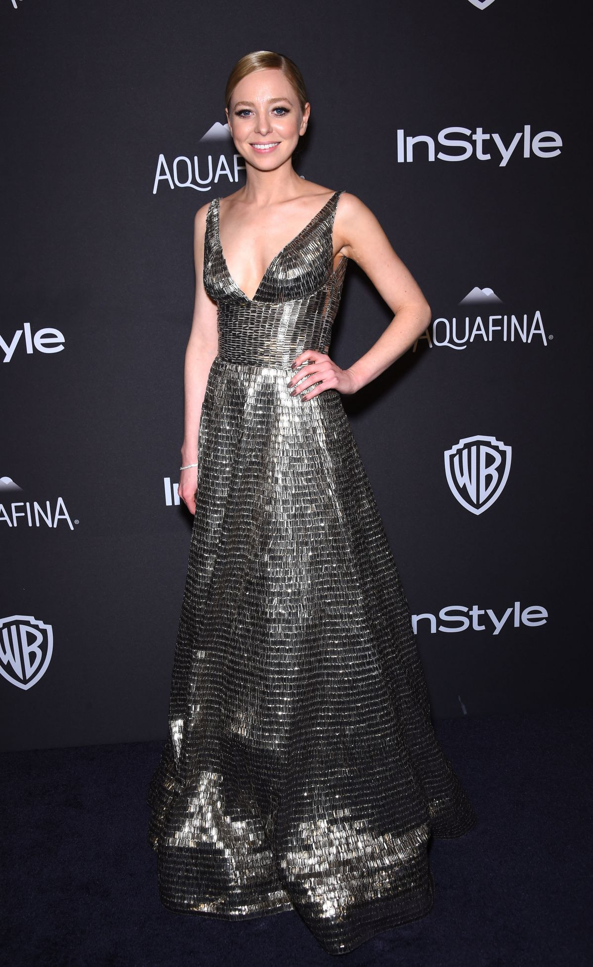 PORTIA DOUBLEDAY at Instyle and Warner Bros. 2016 Golden Globe Awards Post-party in Beverly Hills 01/10/2016