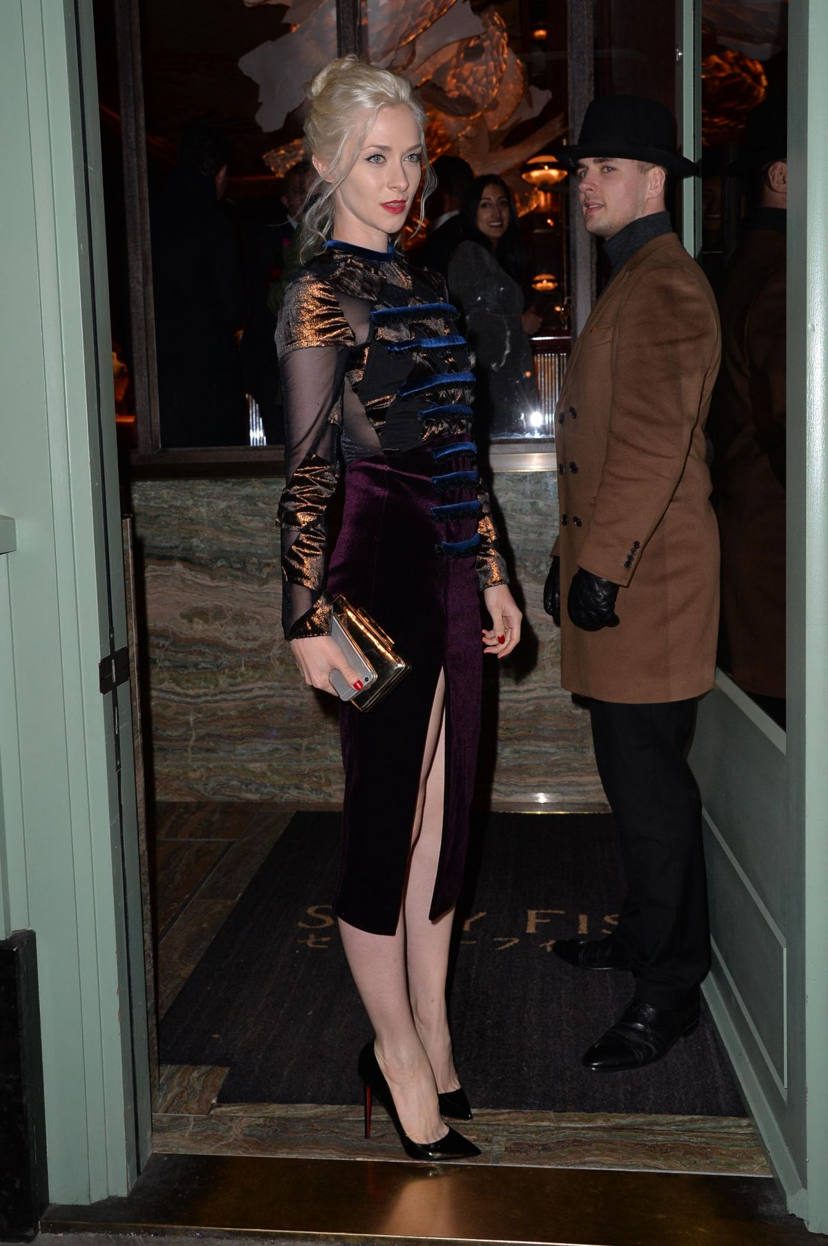 PORTIA FREEMAN at a Private Dinner of Creme De La Mer in London 01/21/2016