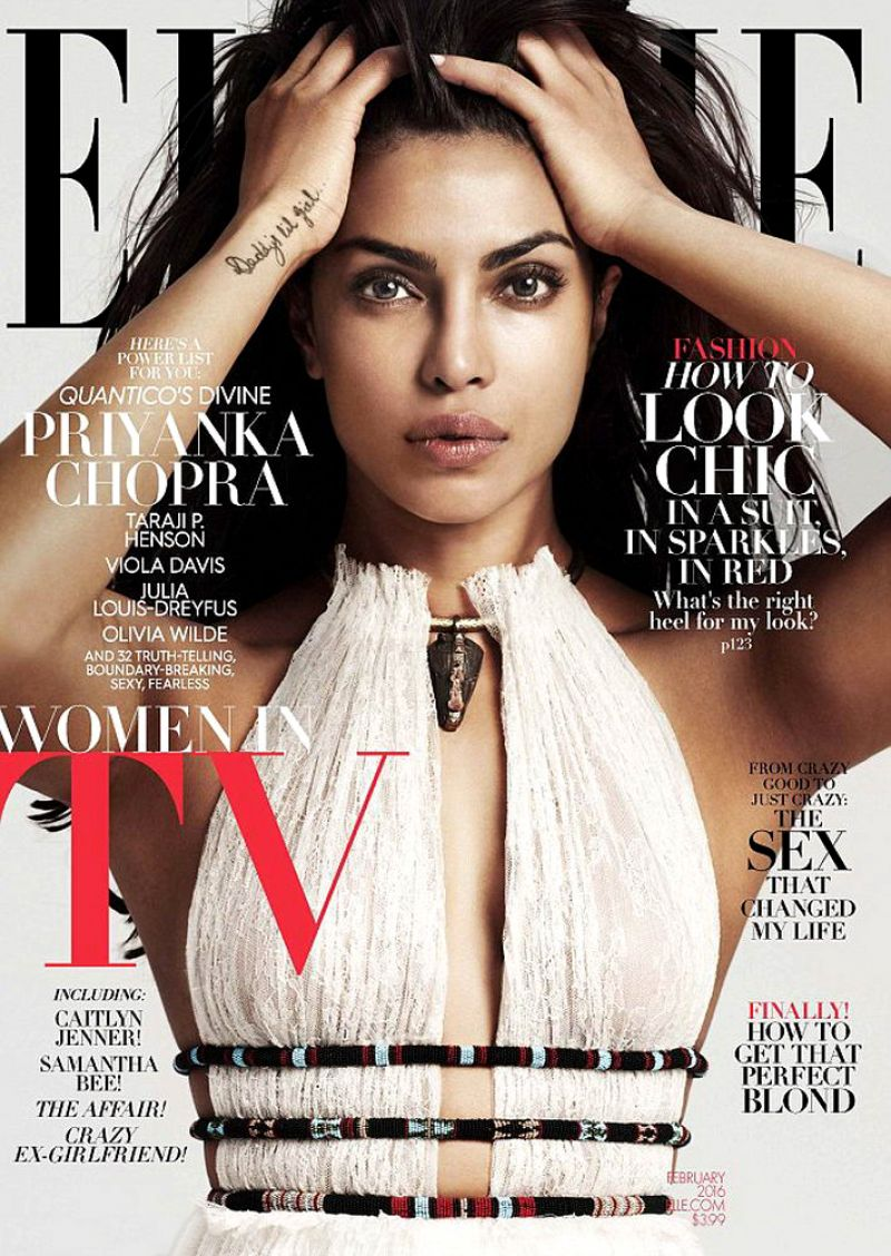 PRIYANKA CHOPRA in Elle Magazine, February 2016 Issue