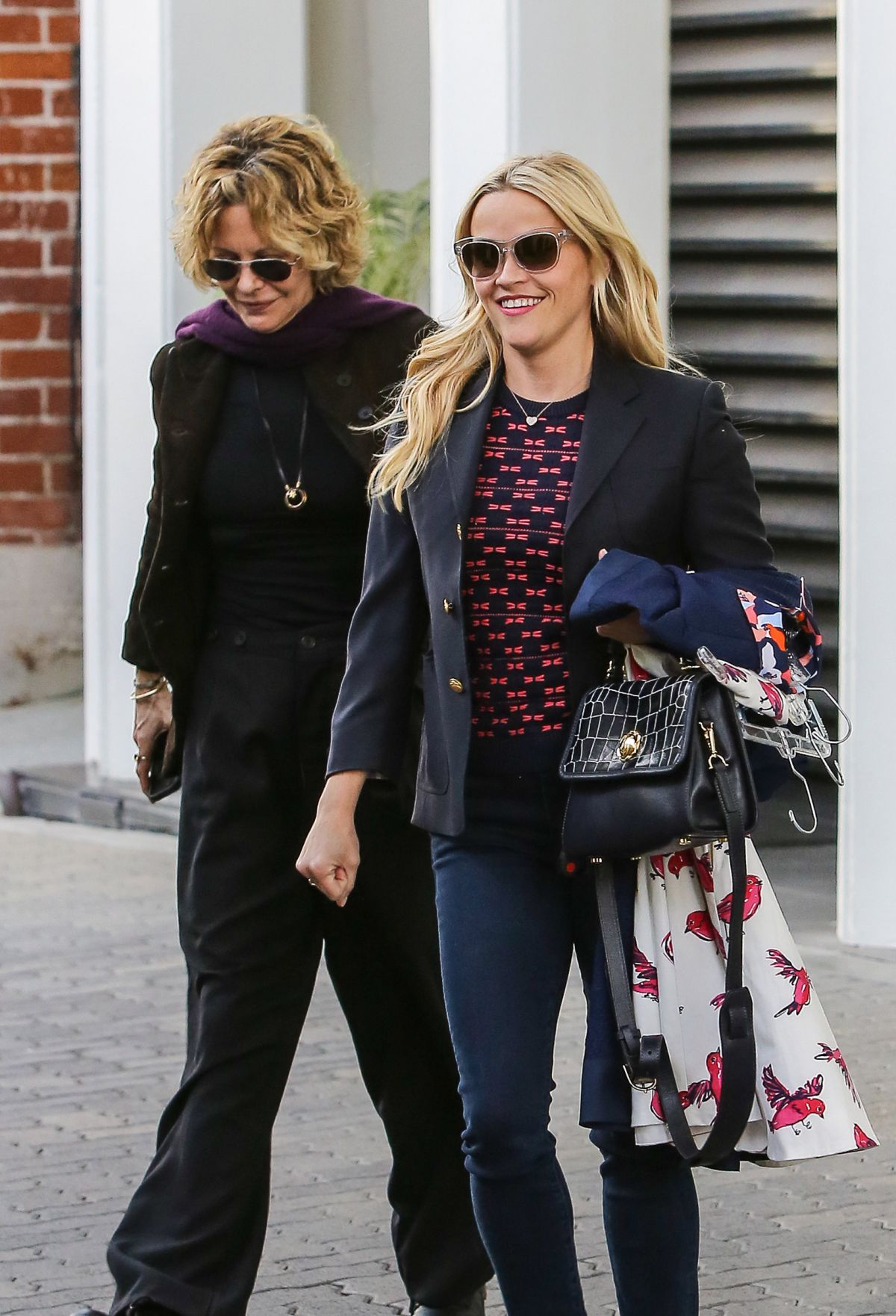 REESE WITHERSPOON and MEG RYAN Leaves Reese