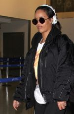 RIHANNA Arrives at LAX Airport in Los Angeles 01/08/2016