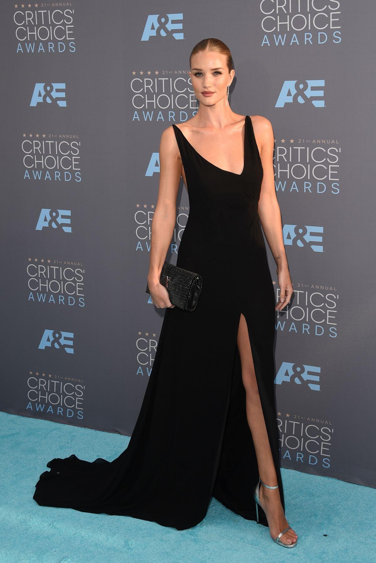 ROSIE HUNTINGTON-WHITELEY at Critics's Choice Awards 2016 in Santa Monica 01/17/2016