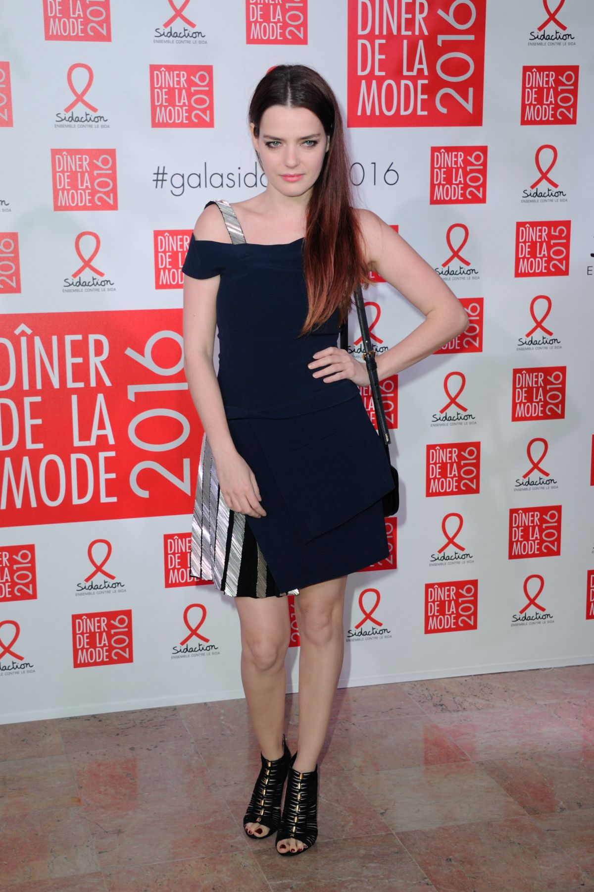 ROXANNE MESQUIDA at Sidaction Gala Dinner 2016 in Paris 01/28/2016