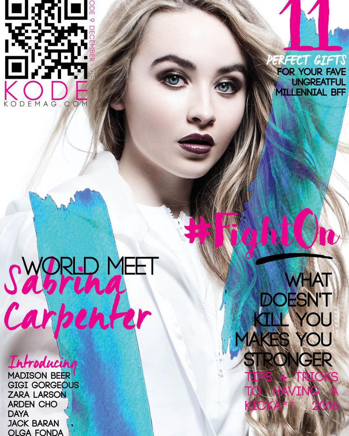 SABRINA CARPENTER in Kode Magazine, December 2015 Issue