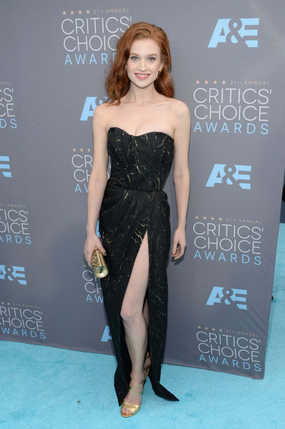 SARAH HAY at Critics's Choice Awards 2016 in Santa Monica 01/17/2016