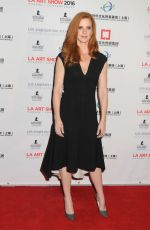 SARAH RAFFERTY at LA Art Show and Los Angeles Fine Art Show's 2016 Opening Night Premiere Party 01/27/2016