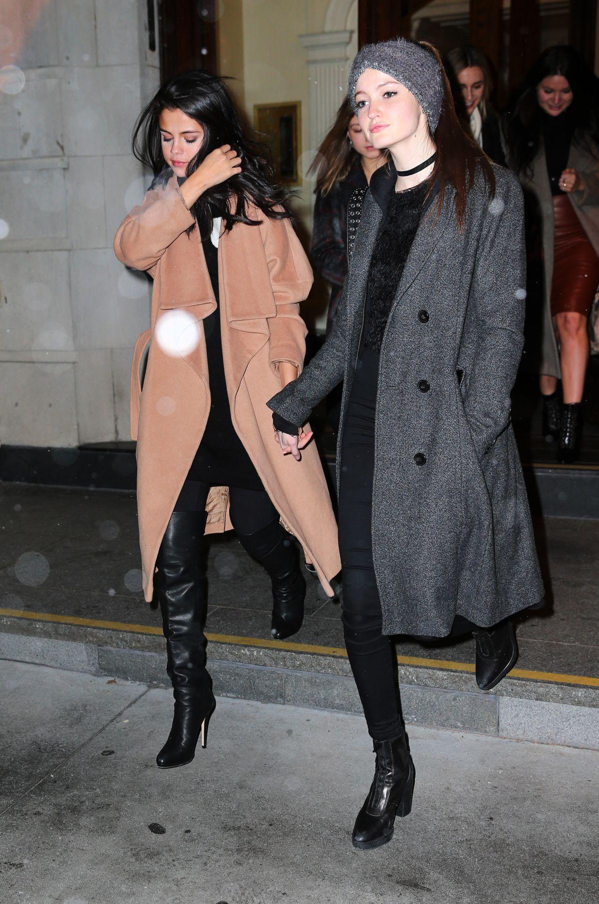 SELENA GOMEZ and MEGAN PULERI Night Out in New York 01/22/2016