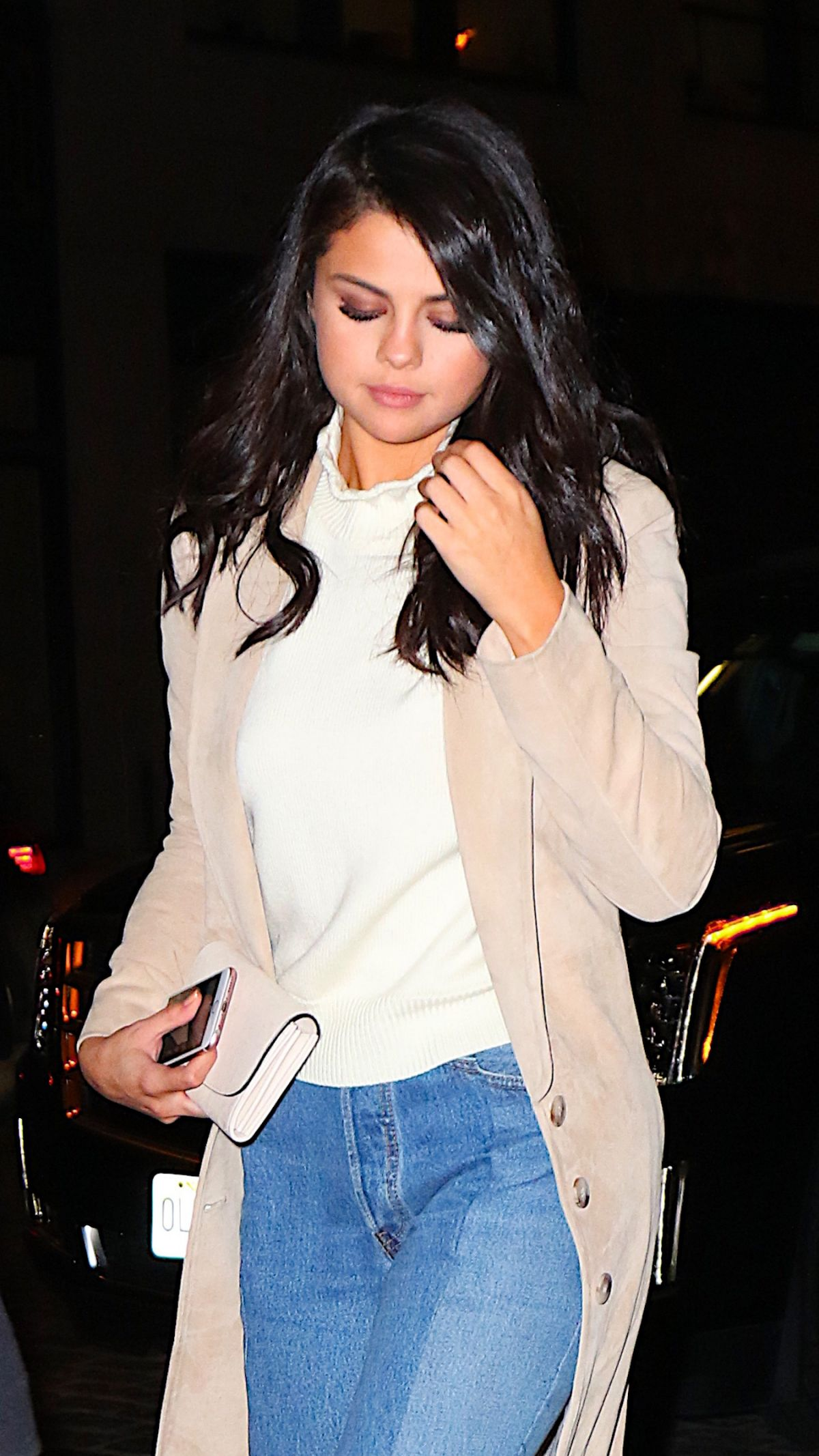 selena gomez at nobu restaurant in new york 01/21/2016 - hawtcelebs