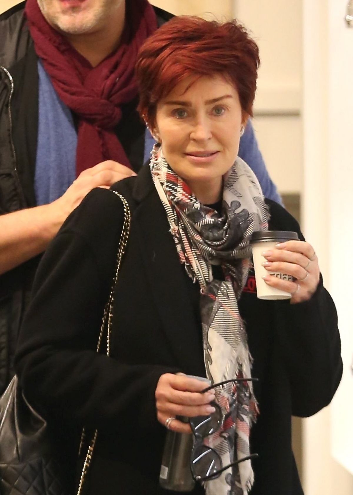 SHARON OSBOURNE Out Shopping in Beverly Hills 01/08/2016