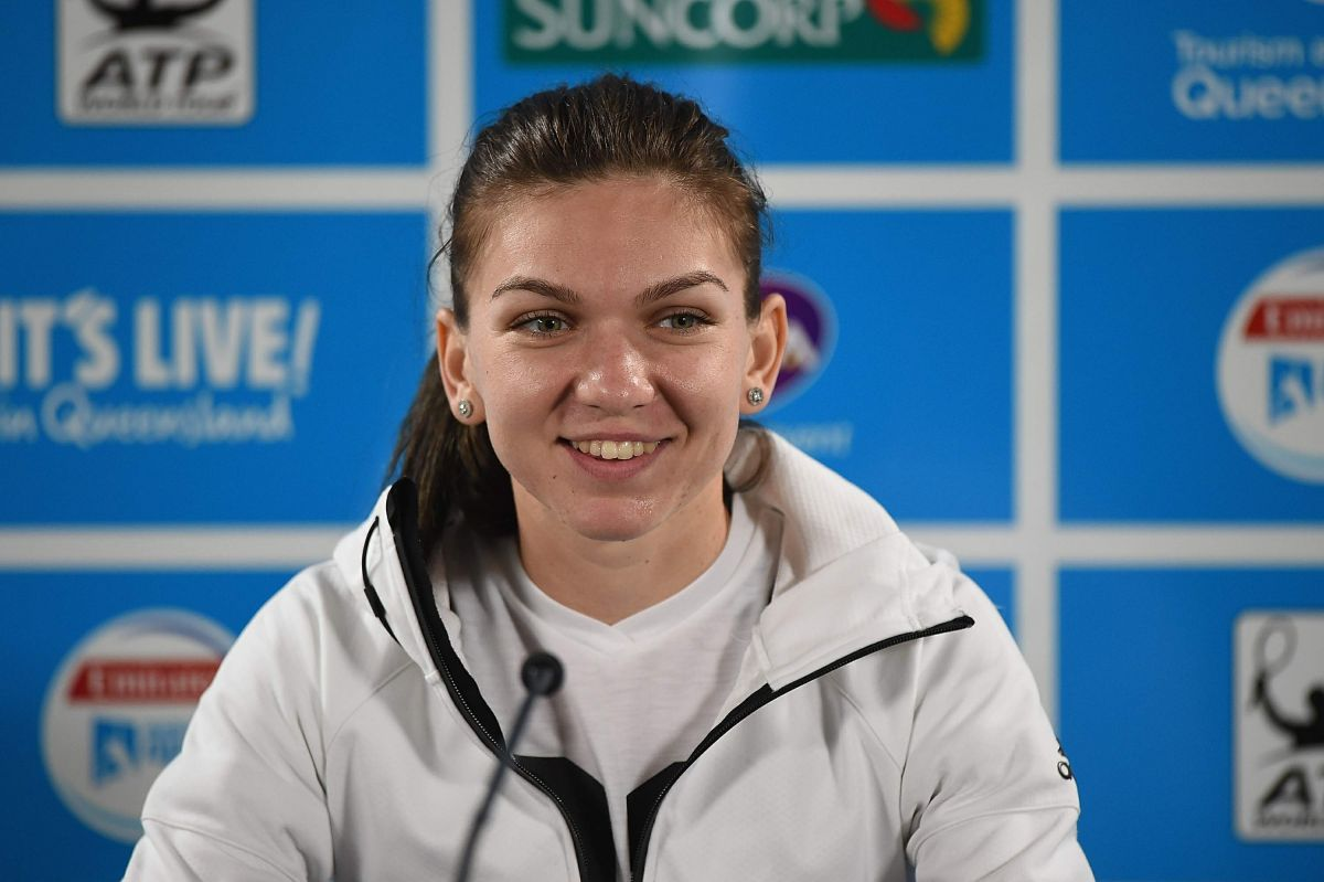 SIMONA HALEO at Press Conference at 2016 Brisbane International 01/04/2016
