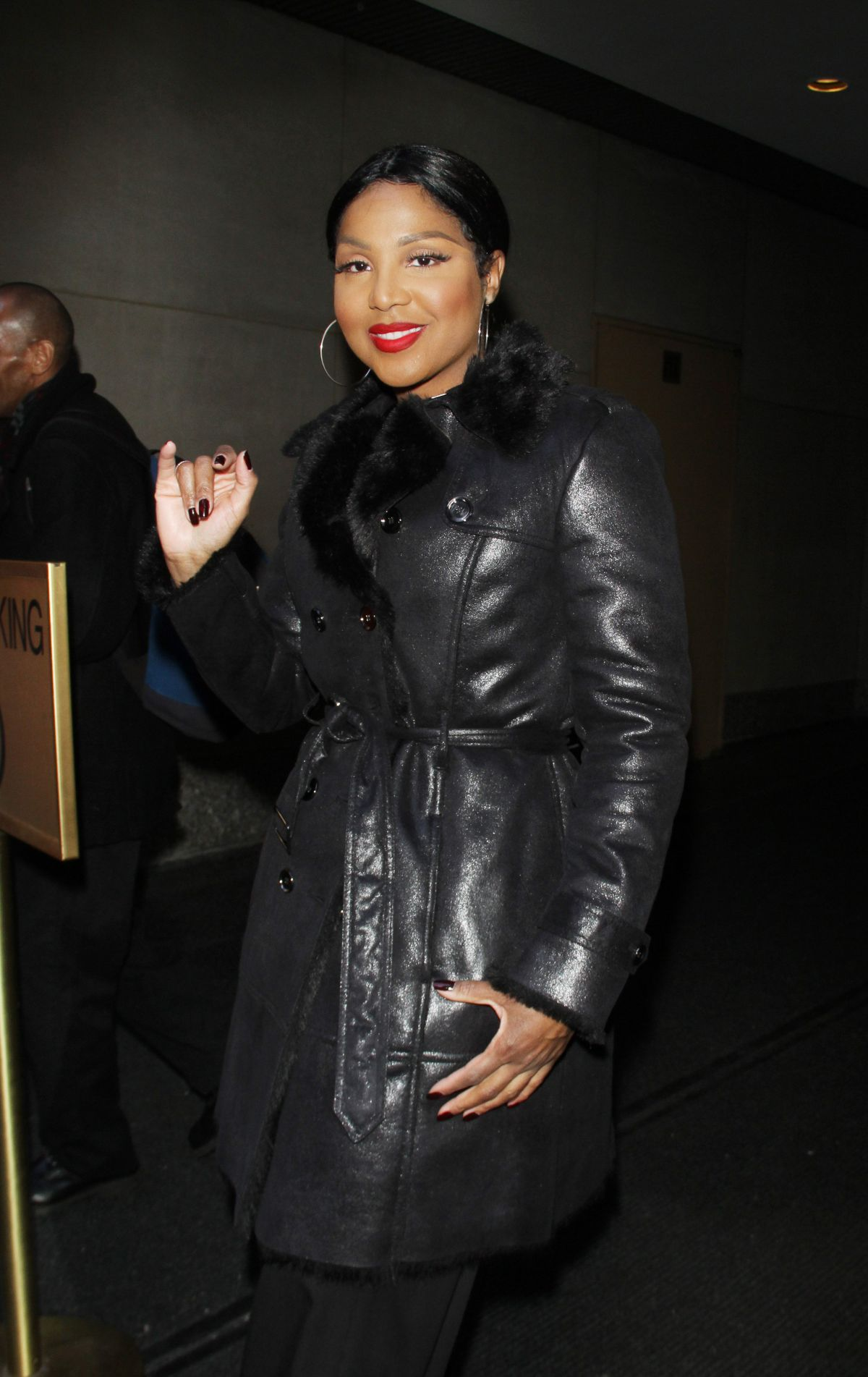 TONI BRAXTON Arrives at Today Show in New York 01/20/2016