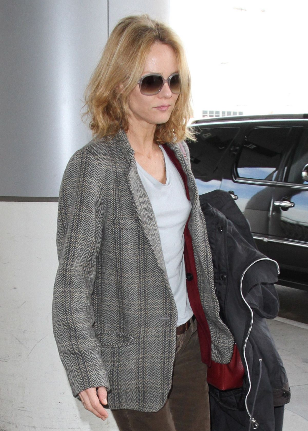 VANESSA PARADIS at LAX Airport in Los Angeles 01/22/2016