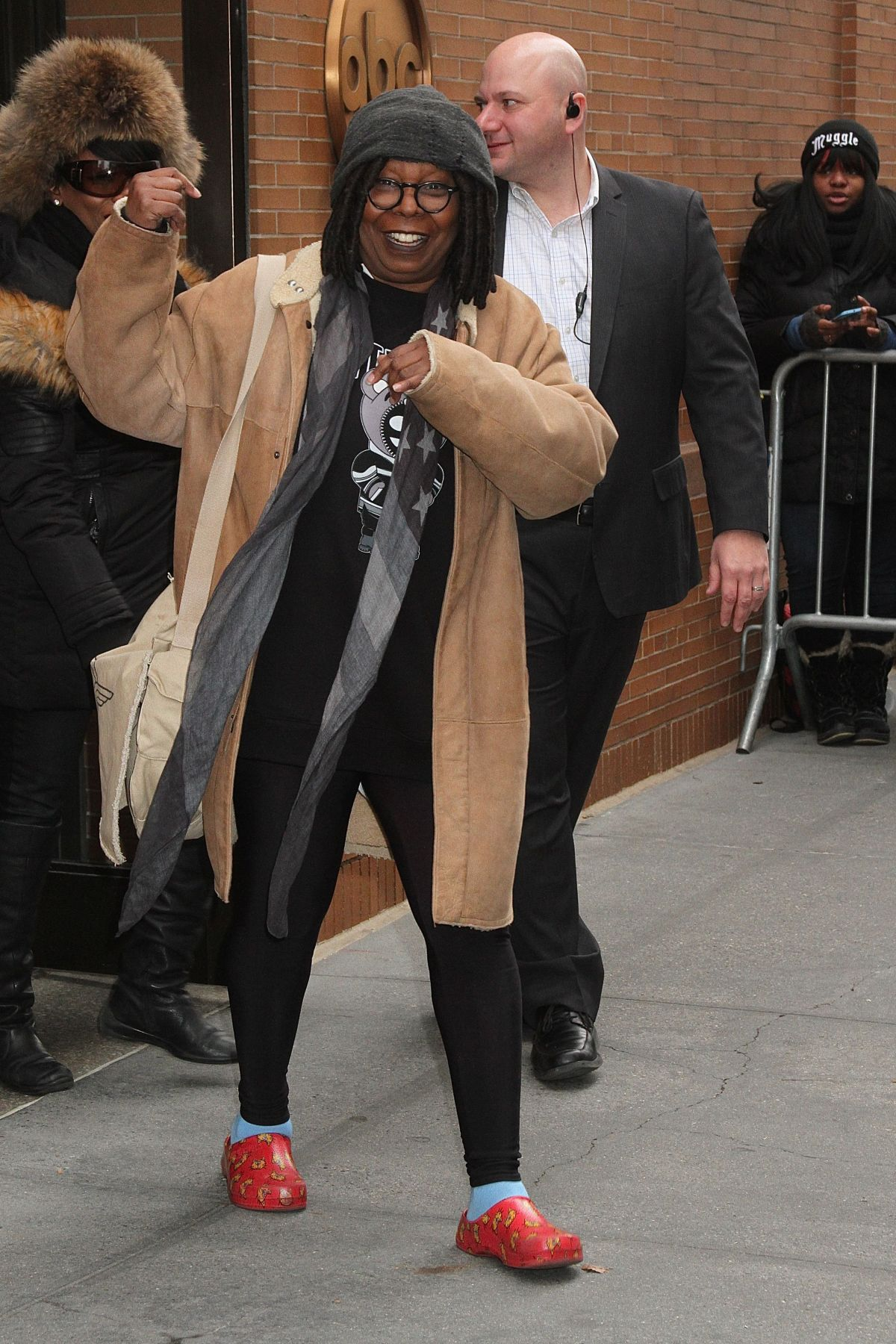 WHOOPI GOLDBERG Leaves The View in New York 01/18/2016