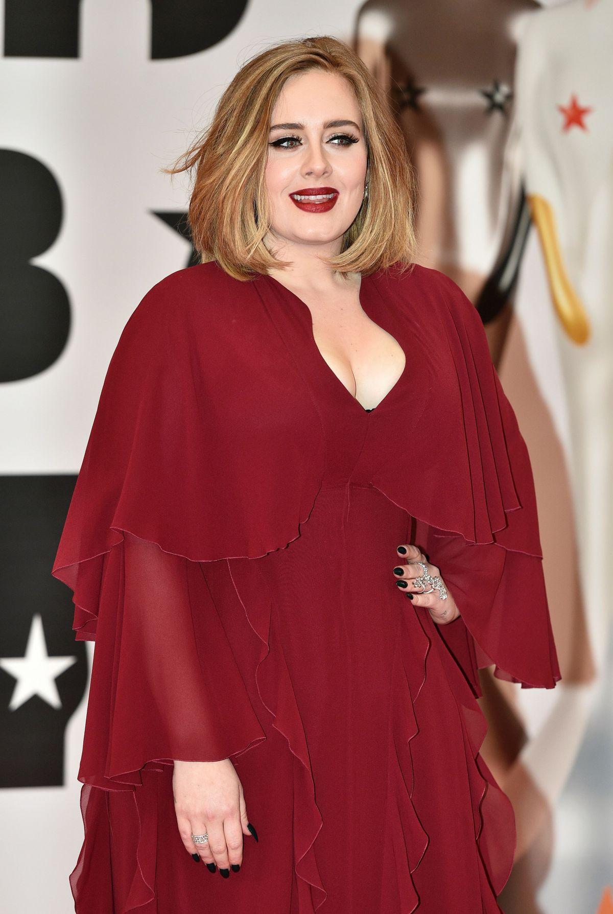 ADELE at Brit Awards 2016 in London 02/24/2016